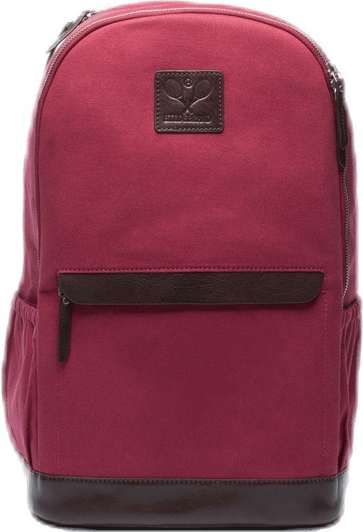 Canvas Tennis Back Pack, Tennis Logo Red