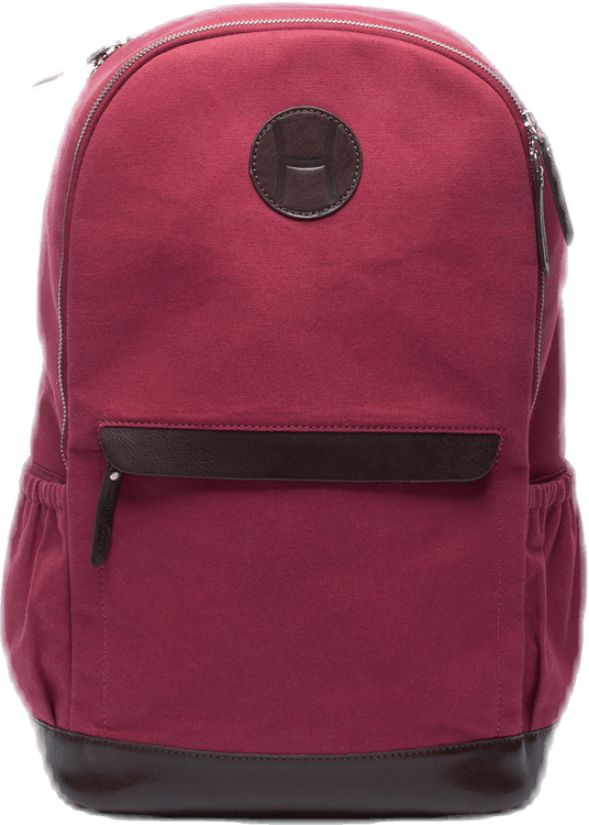 Canvas Tennis Back Pack, H Logo Red