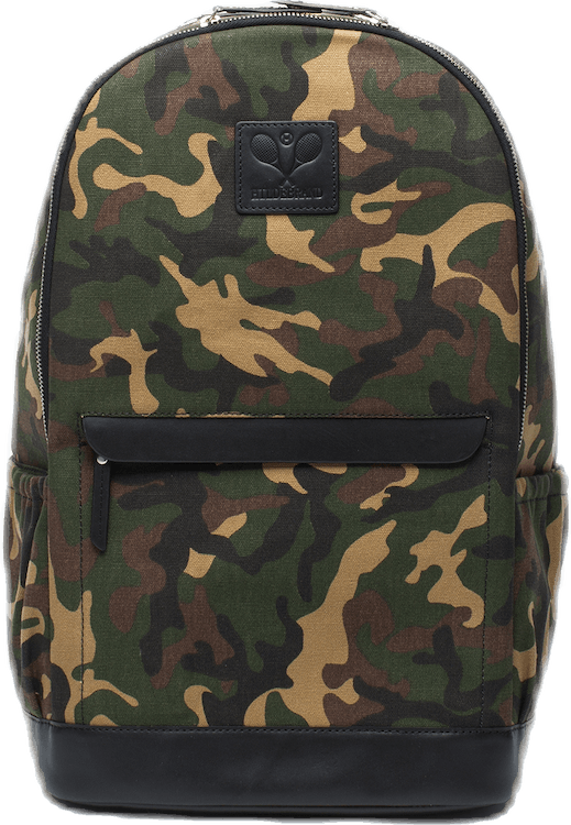 Canvas Tennis Back Pack, Tennis Logo Patterned