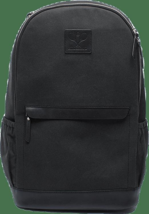 Canvas Tennis Back Pack, Tennis Logo Black