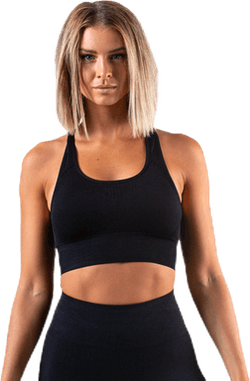 Hatha Seamless Crop Top Black