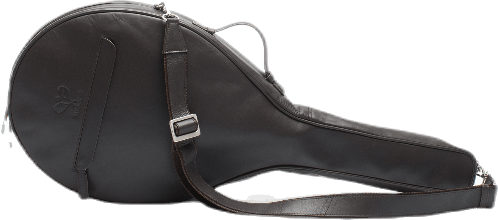 Leather Tennis Racket Case Brown