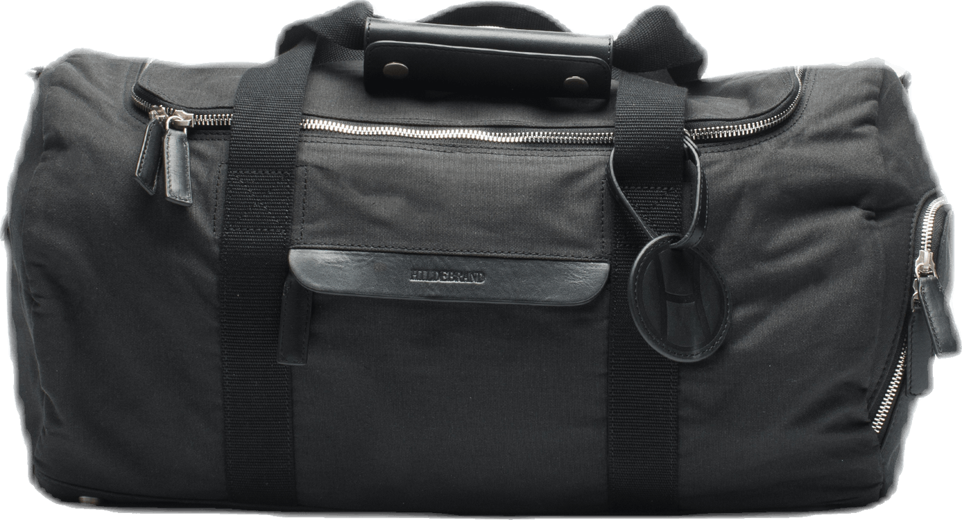 Canvas Small Weekend Bag Black