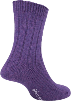 Womens Bamboo Blended Walking Socks - Suzy Purple