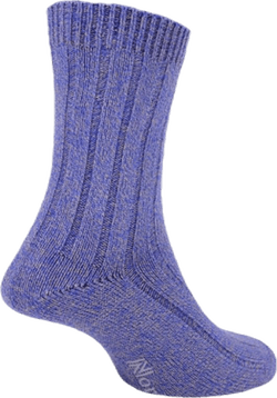 Womens Bamboo Blended Walking Socks - Suzy Blue