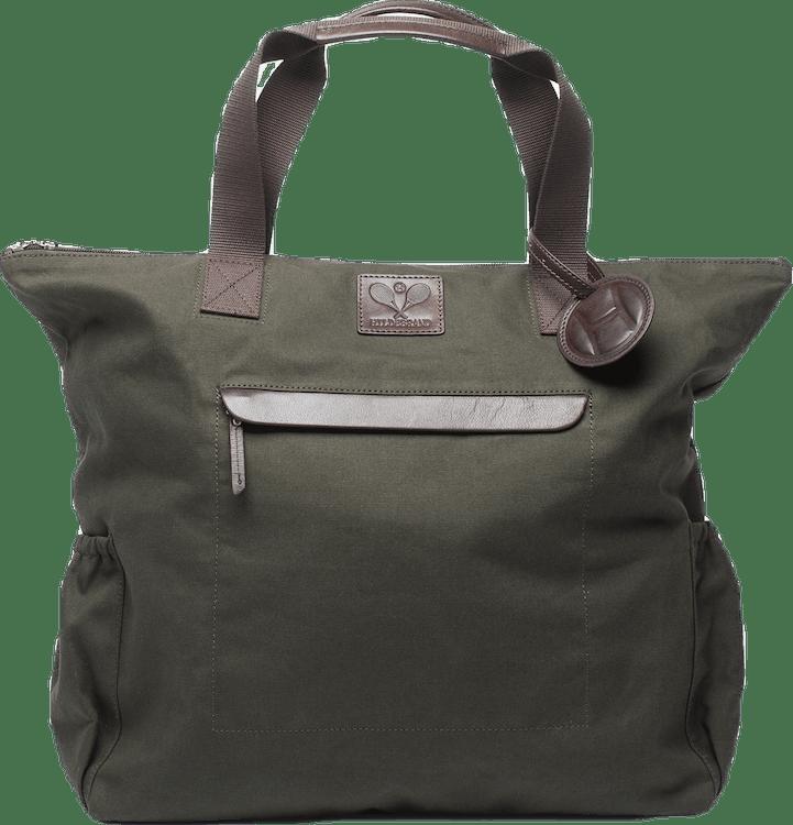 Canvas Tennis Tote Bag Green