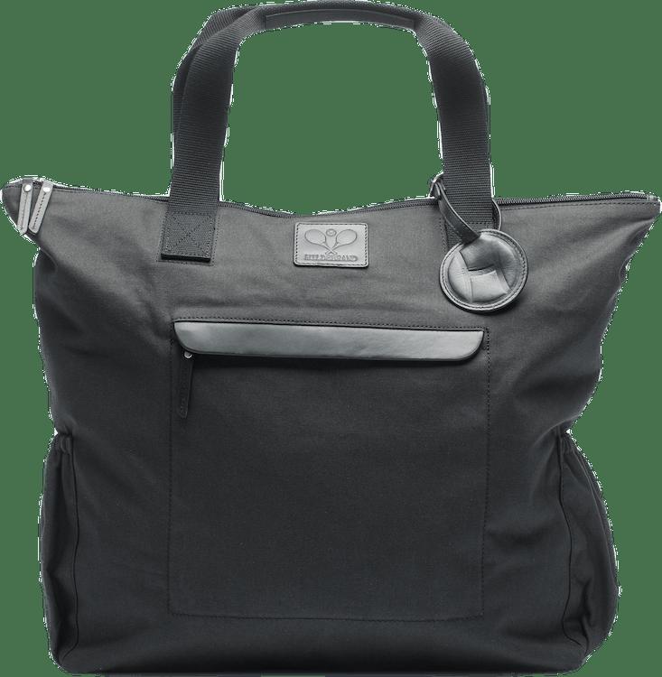 Canvas Tennis Tote Bag Black