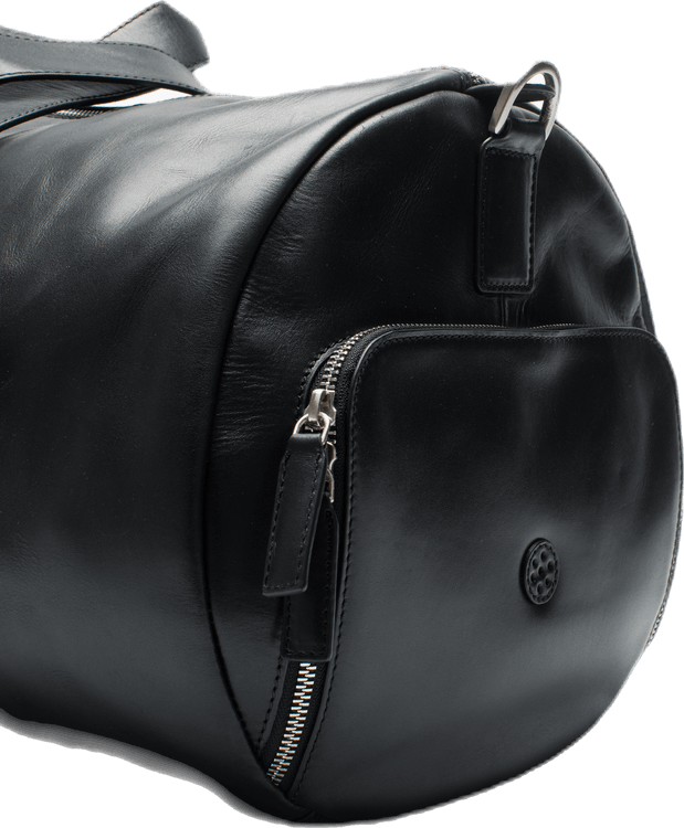 Weekend Duffel Leather Padel Bag Black
