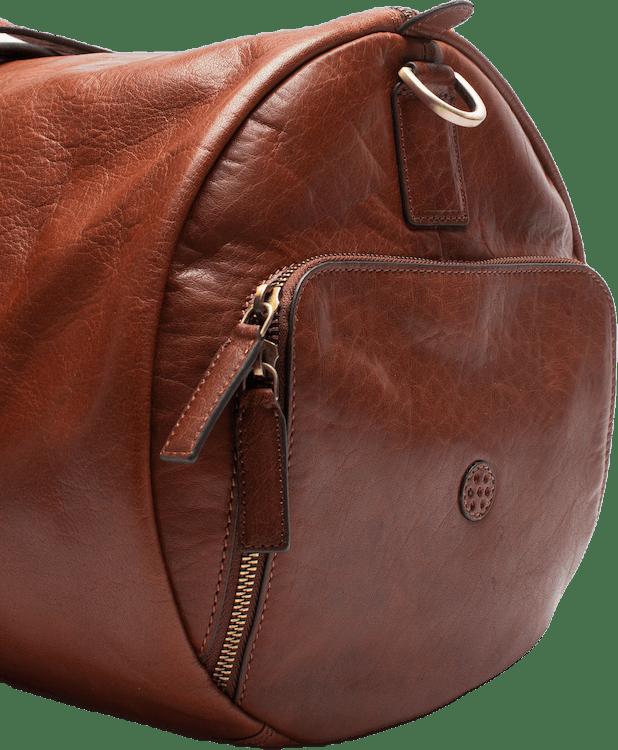 Weekend Duffel Leather Padel Bag Brown