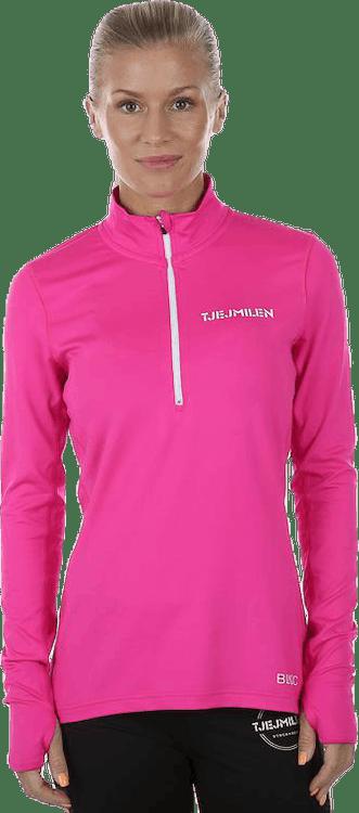 Half Zip LS Pink