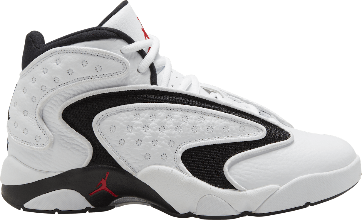 Women's Air Jordan Og White/University Red-Black