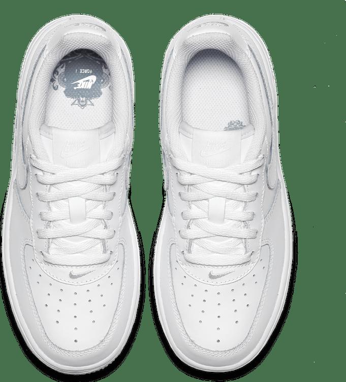 Boys' Force 1 Low (Ps) White/White-White