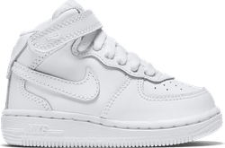 Force 1 Mid Toddler White/White-White