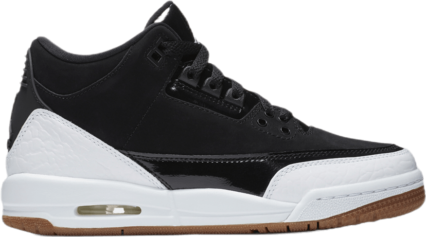 Air Jordan III Retro Gg Black/White-Gum Med Brown