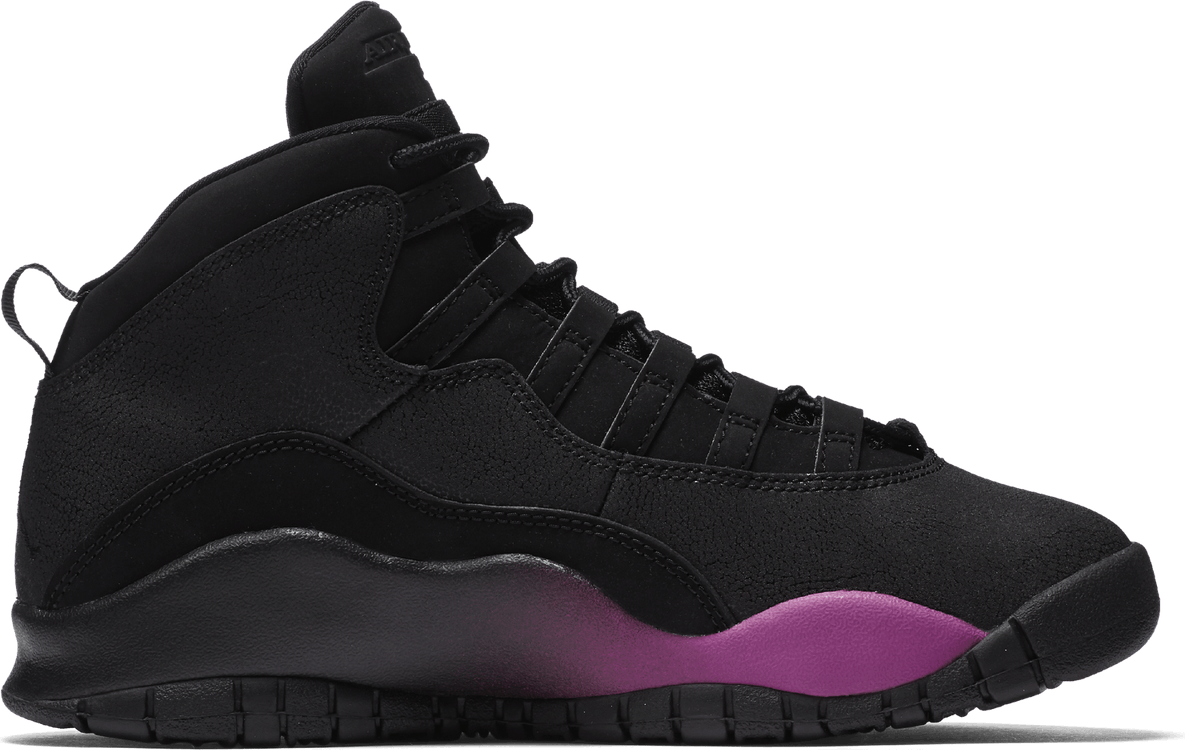 Air Jordan X Retro Gg Black/Fuchsia Blast-Black