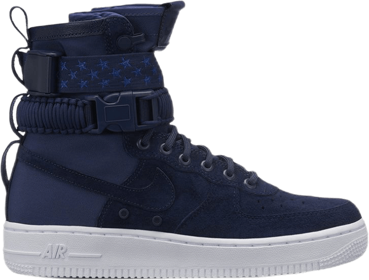 Wmns Sf Af1 Midnight Navy/Midnight Navy-White