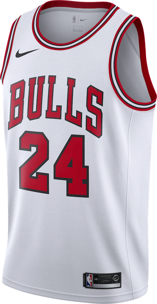 Bulls Swgmn Jsy Home White/University Red/Black