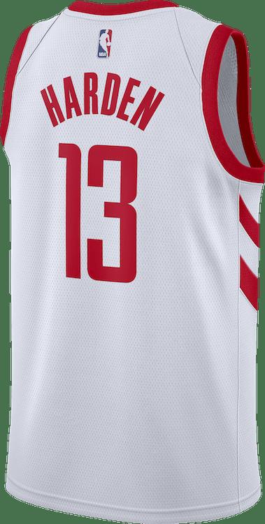 Rockets Swgmn Jsy Home Harden White/University Red