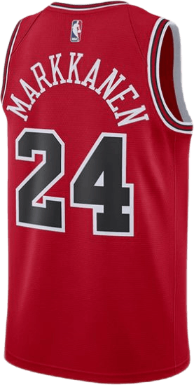 Bulls Swgmn Jsy Road Markkanen University Red/White