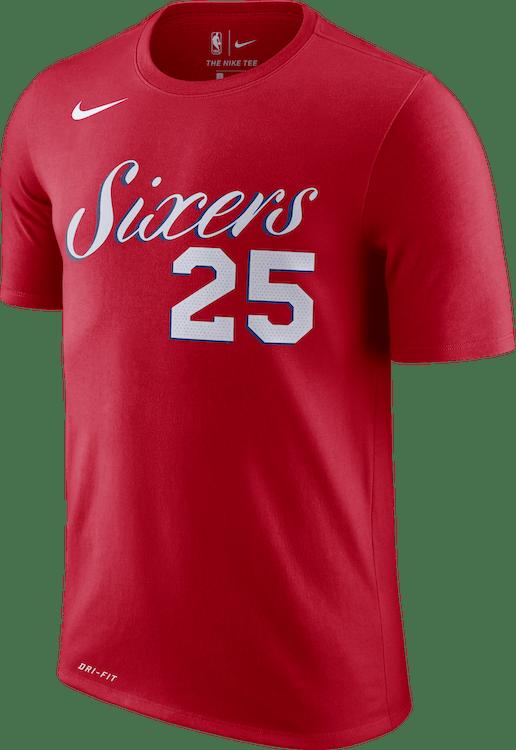 Sixers Dry Tee University Red