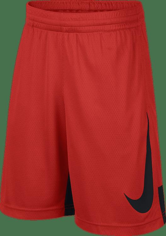 Boys' Dry Basketball Shorts Habanero Red/Black/Habanero Red/Black