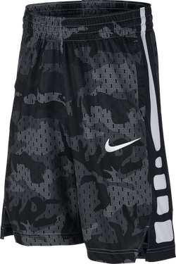 Kids Short Elite Stripe Wolf Grey/Black/White