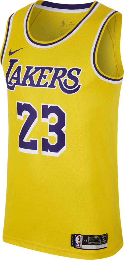 Lakers Swgmn Lebron James Amarillo/Field Purple/White/James Lebron