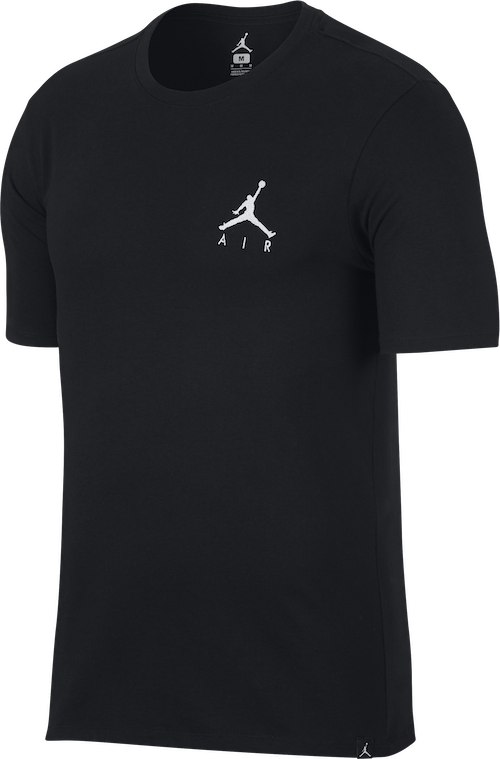 M J Jumpman Air Embrd Tee Black/white
