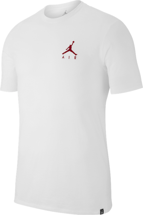M J Jumpman Air Embrd Tee White/gym Red