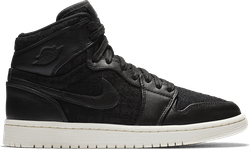 Air Jordan 1 Womens Retro Hi Prem Black/Black