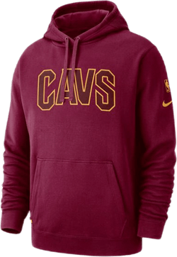 Cavs Hoodie Courtside Team Red/University Gold