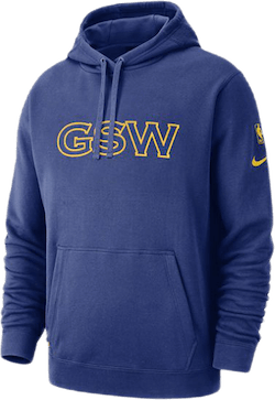 Warriors Hoodie Courtside Rush Blue/Amarillo