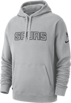 Spurs Hoodie Courtside Flt Silver/Black
