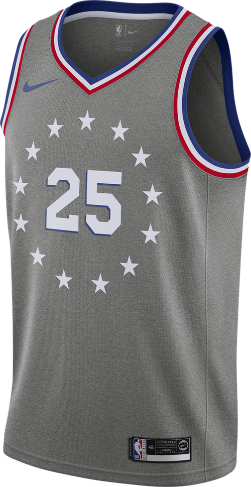 Sixers Swgmn Jsy Ce 18 Simmons Dk Grey Heather