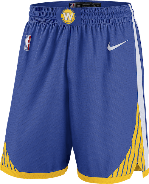 Warriors Swgmn Short Road Rush Blue/White/Amarillo/White