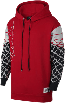 Air Jordan Nrg Pinnacle Po Hoodie University Red/Black/Grey Fog