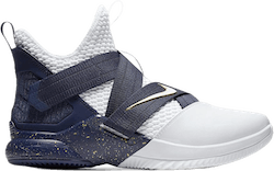 Lebron Soldier Xii Sfg White/White-Midnight Navy-Mineral Yellow