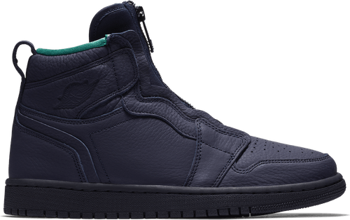 Womens Air Jordan 1 High Zip Blackened Blue/Neptune Green-White
