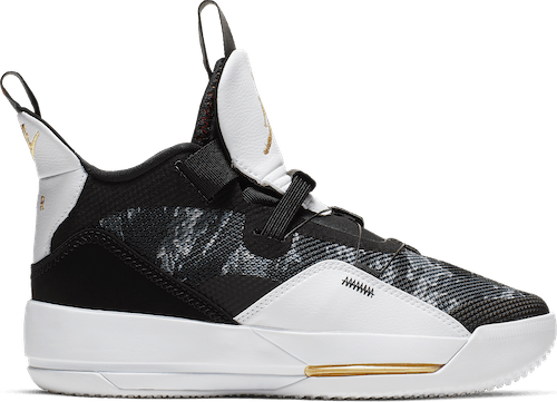 Air Jordan Xxxiii (Gs) Black/Metallic Gold-White-University Red