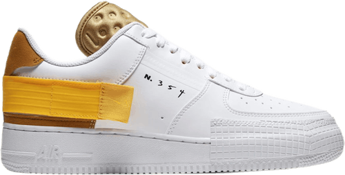 Air Force 1 Type White/University Gold-Gold Suede