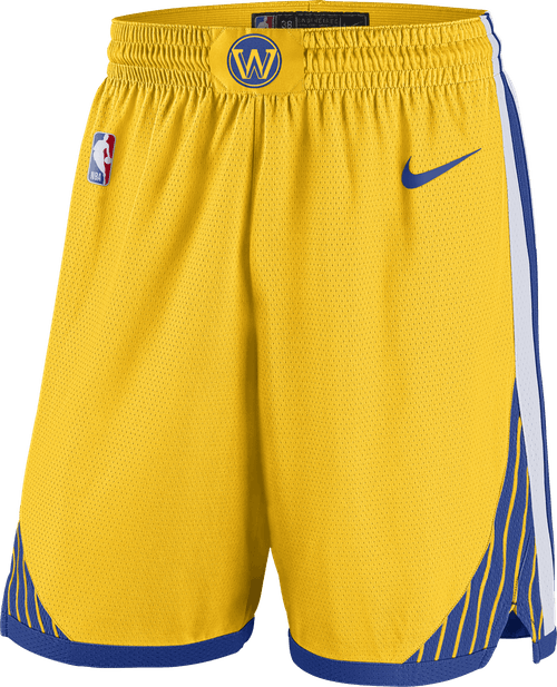 Warriors Swingman Shorts Amarillo/White/Rush Blue/Rush Blue