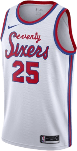 Sixers Simmons Swgman Jersey White/Simmons Ben