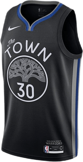 Warriors Curry – City Edition Jersey Black/Dark Steel Grey/Curry Stephen
