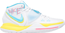 Kyrie 6 - Neon Graffiti White/Blue Fury-Opti Yellow-Digital Pink