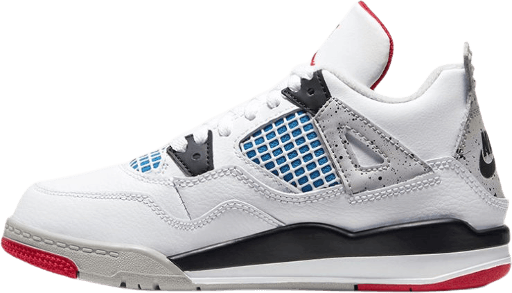 Iv Retro (Ps) - What The White/Military Blue-Fire Red-Tech Grey