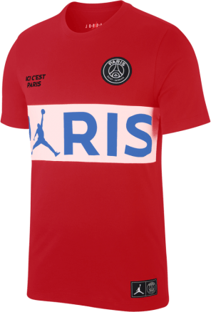 X Psg Wordmark Tee University Red