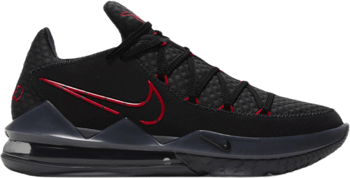 Lebron Xvii Low Black/University Red-Dark Grey