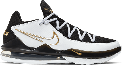 Lebron Xvii Low White/Metallic Gold-Black