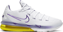Lebron Xvii Low - Lakers White/Voltage Purple-Dynamic Yellow