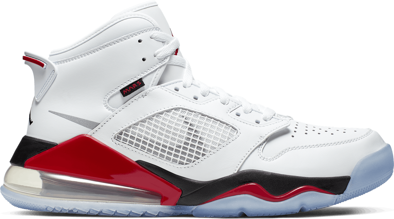 Mars 270 White/Reflect Silver-Fire Red-Black